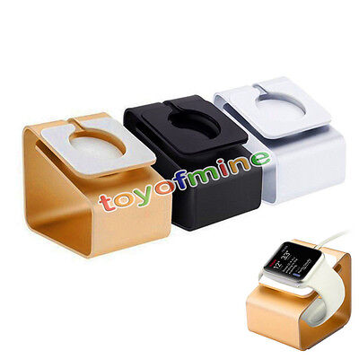 Desktop Aluminum Charger Station Holder Stand Docking For iWatch Apple Watch NEW