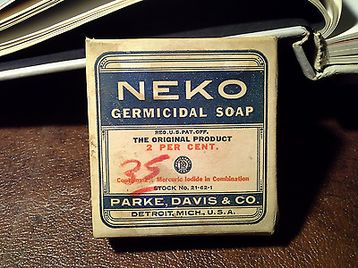 Vintage NEKO Germicical Soap POISON. Unopened