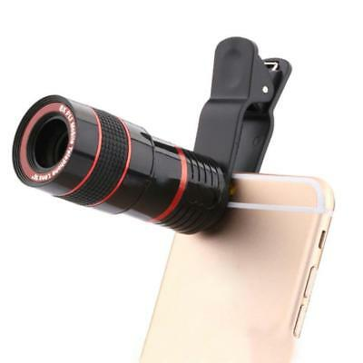 Universal Latest 8x Camera Len Zoom Mobile Phone Clip-On Optical Telescope
