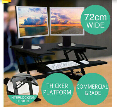 Height Adjustable Standing Desk Riser Sit Stand Up Computer Desktop Office Study