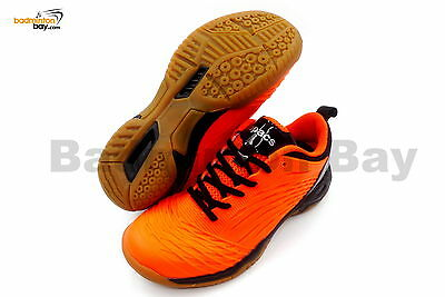 Apacs Cushion Power 079 Neon Orange Black Badminton Shoes