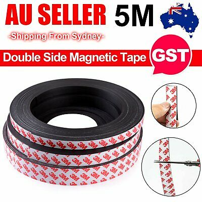 5M 10mm Width Strong Magnetic Magnet Sheets Self Adhesive Roll Tape Rubber Strip