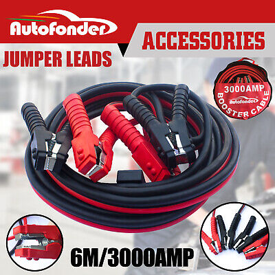 3000AMP Jumper Leads Car Booster Cables 6M Heavy Duty Protected Jump Local Stock