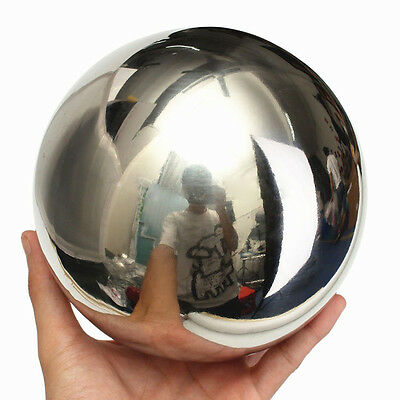 1pc Stainless Steel Mirror Polished Sphere Hollow Ball Garden Ornament