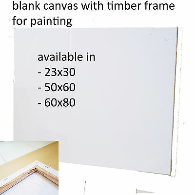 5x Blank Stretched Canvas Canvases Art Large White Range Oil Acrylic Wood