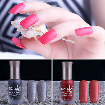 12 Color Women Scrub Nail Polish Matte Long-lasting Nail Polish