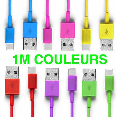 CABLE COULEUR-USB CHARGEUR RECHARGE SYNC-iPhone 5S,5C,6,7,6Plus,Ipod Touch/Nano