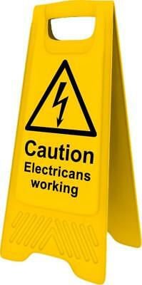Heavy Duty A-Board - Caution Electricians working 4709