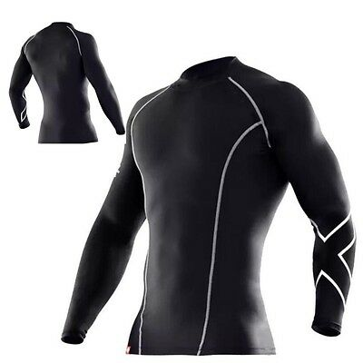 Mens Compression Top/shirt, gym, sports, running,2,XU mma, footy, free delivery