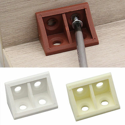 10-100X Furniture Right Angle Plastic Connector Brace Bracket Craft Woodworking