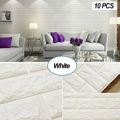 PE Foam 3D Wallpaper DIY Wall Stickers Wall Decor Embossed Brick Stone