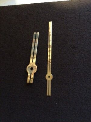 Clock Hand Brass Finish Inch  New Old Stock 012