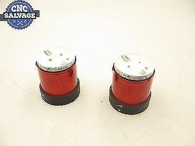Telemecanique Red Stack Light 10W Without Bulbs XVB C34 *Lot Of 2*