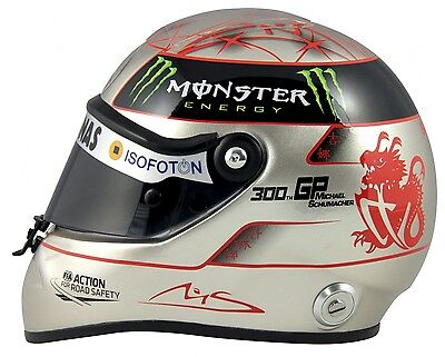 Michael Schumacher Spa 300th GP 2012 Platin Helm 1:2