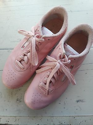 VINTAGE 1980s/ 80's Reebok Classic Lowtop Light Pink sneakers Aerobic Womens 8