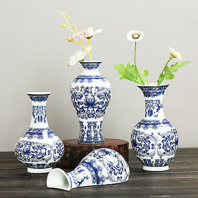 Wall Mounted Traditional Chinese Blue And White Porcelain Vases Rare Home Deco