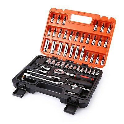 Car Repair Tool Set Kit Auto Moto Hand Wrench Home Case Mechanics 53 Pieces