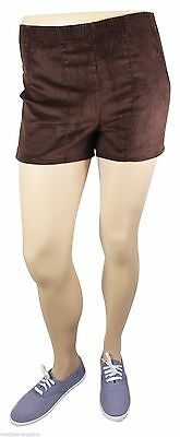 "NEW VTG 80s LEVI'S Corduroy SHORT SHORTS 28.5"" Waist Youth Large 16-18 Brown NWT"