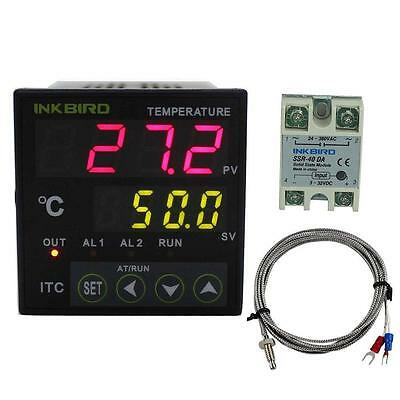 Inkbird Dual Digital PID Temperature Controller 2 Omron Relay Thermostat...