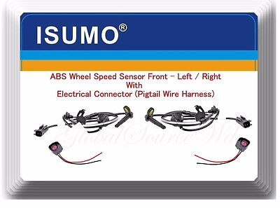 2 ABS Wheel Speed Sensor with Connector Front Left & Right For Lancer Outlander