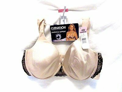 674d40737f5 CURVATION SHAPING   SUPPORT WOMENS Sz 42D UNDERWIRE BRA ~ NWT ~ ( ELM )