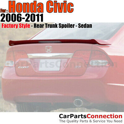 06-11 For Civic 4D SI Style Spoiler Painted NH701M GALAXY GRAY MET ...