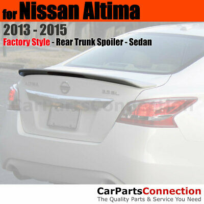 For Nissan Altima 16-17 4Dr Color Matched Painted Trunk Spoiler BLACK KH3