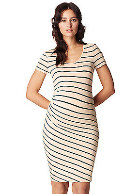 NEW - Noppies - Lotus Dress in Green Stripes - Maternity Dress