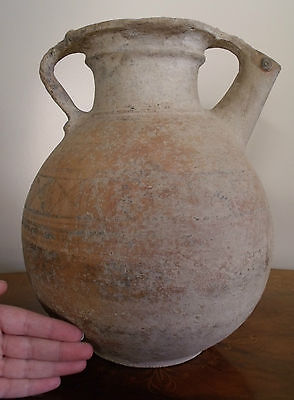 "ANCIENT ARTEFACT. INDUS VALLEY  VESSEL JUG. ca.1300 B.C. 12"" ht. Original Paint"