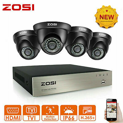 ZOSI CCTV Home Security Camera System 1080P 8CH TVI DVR 3000TVL Day Night 2.0MP