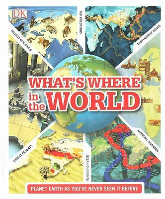 What's Where In The World by Kindersley Dorling - Hardcover - NEW - Book