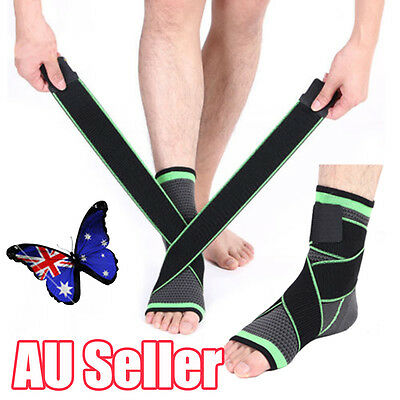 Compression Foot Sleeve Support Compressor Heel Arch Ankle Sport Socks Brace BO
