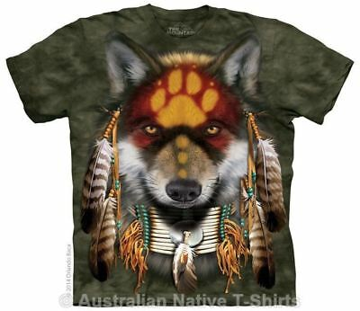 Native Wolf Spirit T-Shirt, Adult Sizes - Native American Wolves by The Mountain