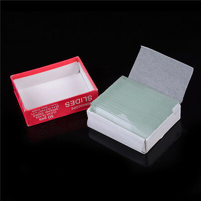 Professional 50PCS Blank Microscope Slides accessories Cover Glass Lab PL