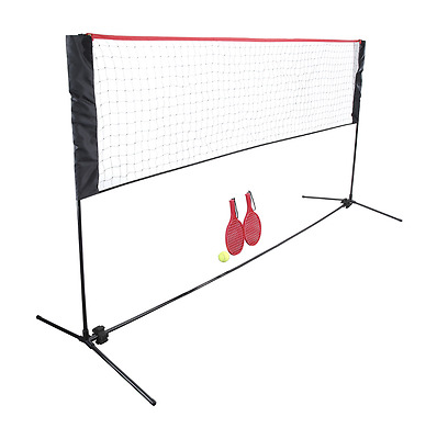 Portable Kids Adult Mini Driveway Tennis Badminton Volleyball StandFrame Net Set