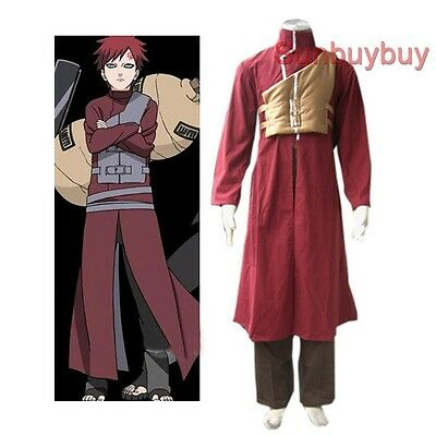 Naruto Shippuden Gaara Red Halloween Cosplay Costume