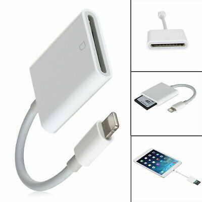 Lightning to SD Card Camera Reader Adapter for iPhone 7 6 6S 5S iPad Air Mini