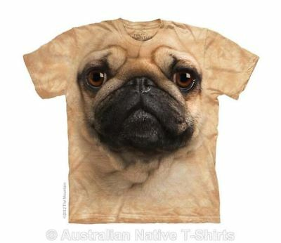 Pug Dog Face Childrens T-Shirt - Kids Fawn Pug Face by The Mountain T-Shirts