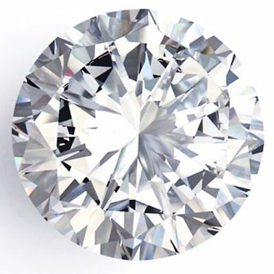 Genuine Loose Moissanite F-G  White Color Round Cut VVS1 0.82 ct 6.40 mm AUD