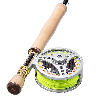 8WT Fly Rod and Reel Carbon Fiber Fly Rod Fly Reel and Line Backing Leader
