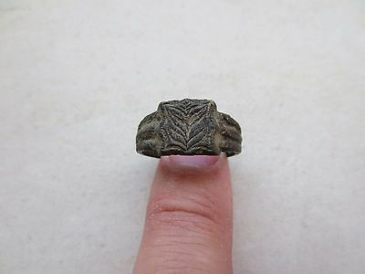 ORIGINAL BRONZE RING Metal Detector Find Ancient MEDIEVAL ARTIFACT #-1