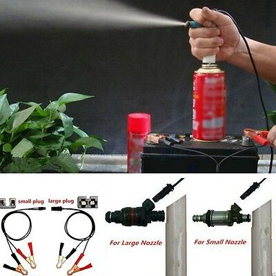 Car Vehicle Fuel Injector Flush Cleaner Adapter DIY Kit Cleaning Tool Nozzle DA