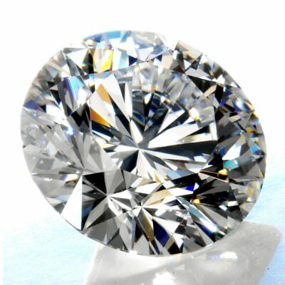 Round Cut 2.25 ct 8.80 mm Genuine Loose Moissanite Fancy Grey VS1 AUD