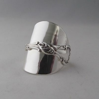 Stunning Handmade Antique Sterling Silver 925 Spoon Ring dated 1902 Unique Gift