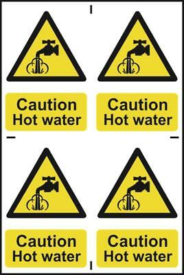 Caution Hot water - PVC (200 x 300mm)  1309