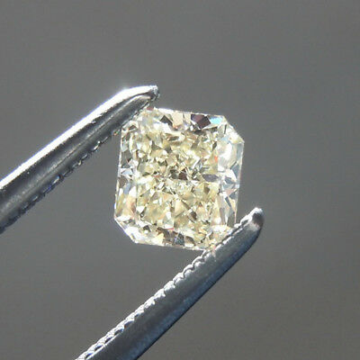 4.97 ct 10.85 x 10.50 mm VVS1 Off White Yellow Radiant Cut Loose Moissanite AUD
