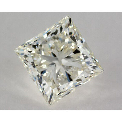 1.66 ct 6.85 mm VVS1 Off White Yellow Princess Cut Loose Moissanite AUD