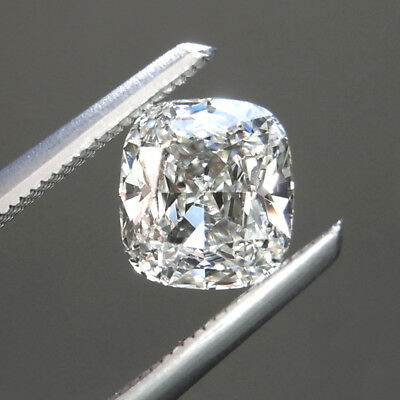 3.63 ct 9.70 mm VVS2 Off White Yellow Cushion Cut Loose Moissanite AUD