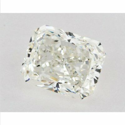 4.80 ct 10.90 x 10.00 mm VVS1 Off White Yellow Radiant Cut Loose Moissanite AUD