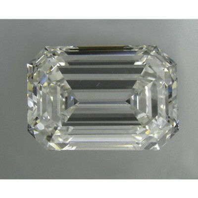 4.60 ct 9.75 x 7.80 mm VVS1 Off White Yellow Emerald Cut Loose Moissanite AUD